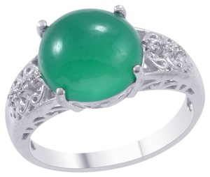 Unknown Green Chalcedony Ring