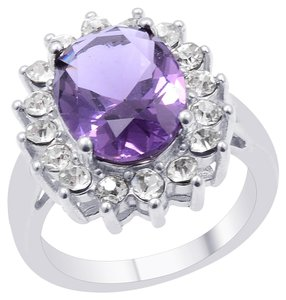 Unknown Purple and White Glass Ring