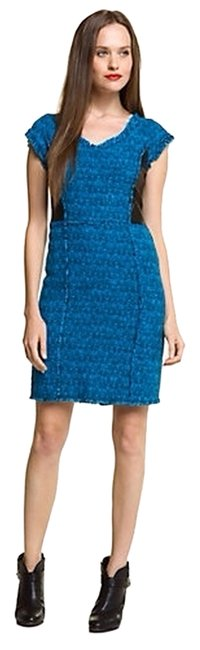 Preload https://img-static.tradesy.com/item/710279/rebecca-taylor-blackblue-tweed-leather-accent-above-knee-workoffice-dress-size-4-s-0-0-650-650.jpg