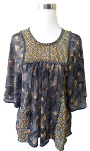 Love, Fire Sheer Bohemian Batwing Floral Top