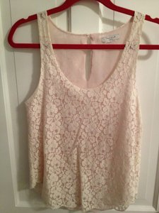 Aritzia Betty Lace Blush White Ivory Xs 0 2 Blouse Top Pink/Cream