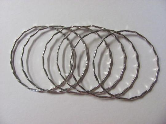 Other 6 FUN SILVER BANGLE BRACELETS