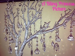 10 Silver Glitter Trees