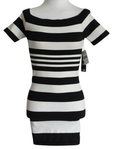 Rampage short dress Black/White on Tradesy