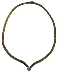 OTHER GOLD TONE CHAIN STATEMENT NECKLACE