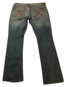 7 For All Mankind Seven Flynt Boots Cut Straight Leg Jeans-Medium Wash
