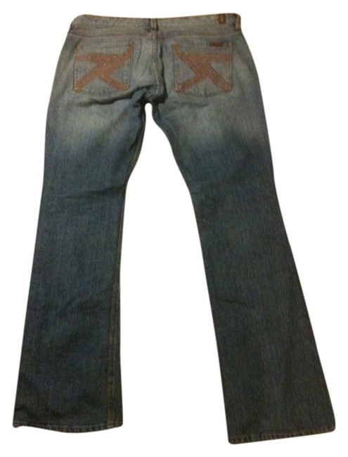 Item - Blue/Rust Pockets Medium Wash Women's Seven Flynt Straight Leg Jeans Size 29 (6, M)