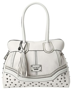 Guess 15 W X 12 H X 4 D Inches Tote in White