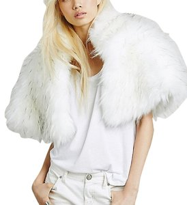 Free People Faux Fur Cape