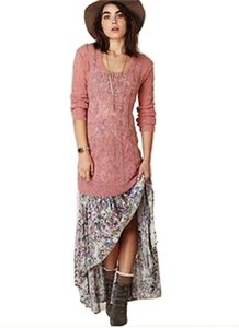 Free People short dress Guava Sheer Sweater Tunic Sweater on Tradesy