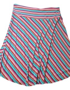 H&M Striped Beach Coverup Knee Length Skirt Multi