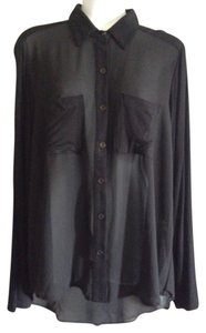 ISSI Sheer Top Black