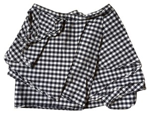 H&M Plaid Mini Mini Skirt blue and white