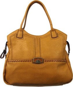 Guess 15 W X 13 H X 6 D Inches Satchel in Cognac