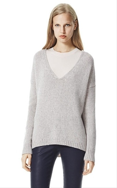 Theory Castra V-neck Wool Sweater Image 1