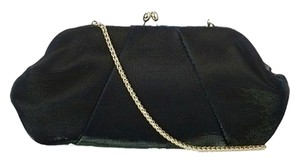 Nina Black w/Green Sparkles Clutch