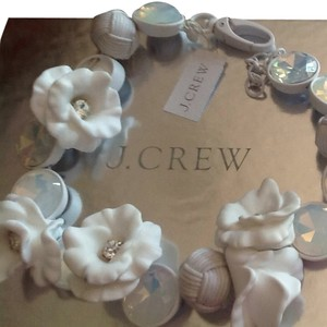 J.Crew J Crew White Floral Statement Necklace