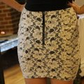 Forever 21 Cream Lace Skirt Size 8 (M, 29, 30) Forever 21 Cream Lace Skirt Size 8 (M, 29, 30) Image 3