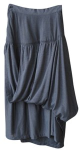 High Waist Cotton Fall Spring Skirt Grey Black