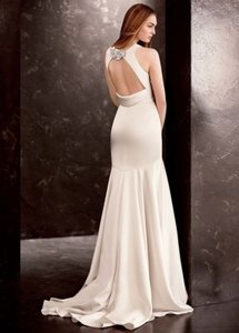 White By Vera Wang Oyster Satin Gown With Sash Style Vw351186 Wedding Dress