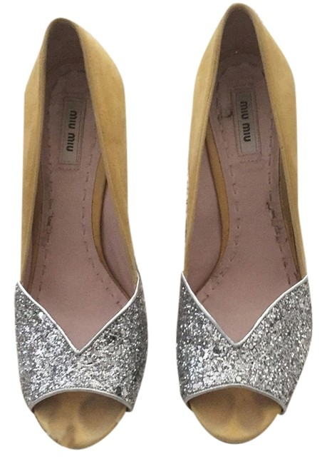 Miu Miu Glitter Sandals Size US 10.5 Regular (M, B) Miu Miu Glitter Sandals Size US 10.5 Regular (M, B) Image 1