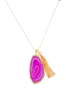 E.Kammeyer Accessories E.Kammeyer Accessories Pink Agate Tassel Necklace