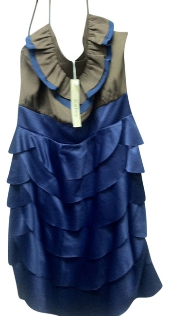 Anthropologie Color-blocking Ruffle Tiered Silk Date Night Party Feminine Scalloped Layers Night Out Wedding Flattering Dress