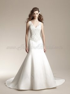 Jasmine Bridal Ivory Stain and Lace F151021 Wedding Dress Size 8 (M)