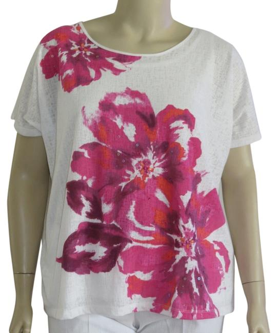 Alfred Dunner Top White/Pink