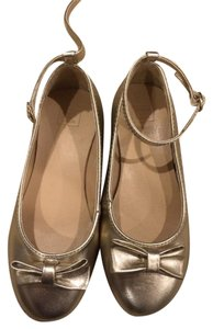 Janie and Jack & Girls New Cute Strap Holiday Gold Flats