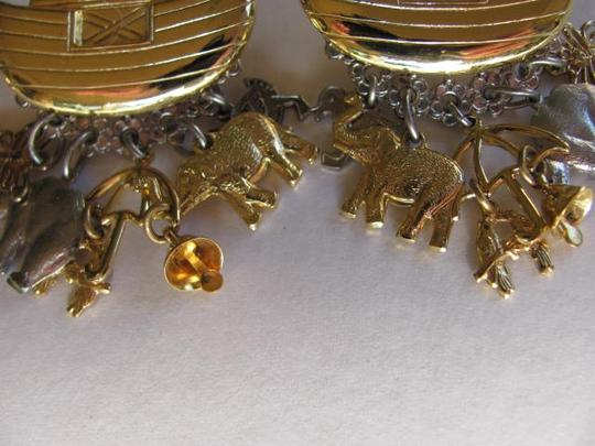 Other NOAH'S ARK WITH ANIMALS GOLD EARRINGS