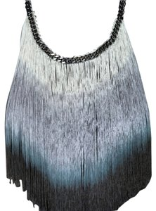 E.Kammeyer Accessories Ombre Fringe Glam Statement Necklace