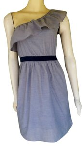 Gianni Bini short dress Blue Chambray One Knee Length on Tradesy