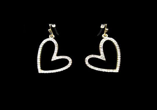 Other PAVE SIDEWAYS HEART CRYSTAL EARRINGS