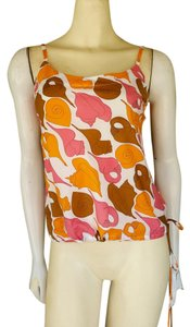 Trina Turk Cotton Shells Drawstring Cami Top orange