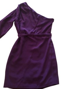 Twelfth St. by Cynthia Vincent One Shoulder One Sleeve Silk Dress