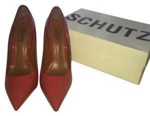 SCHUTZ Patent Leather Mango Pumps