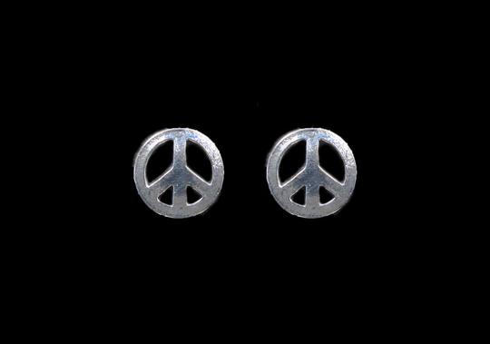 Other POLISHED PEACE SIGN STUD EARRINGS