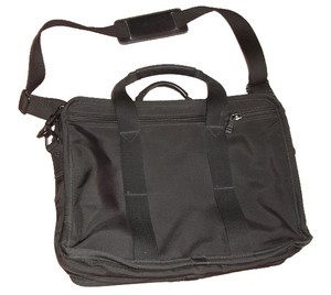 Tumi Leather Nylon Laptop Bag