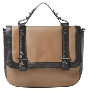 Trina Turk Tan W/Black Messenger Bag