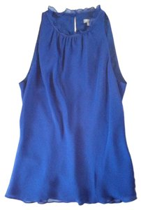 Ann Taylor Top Ultramarine Blue