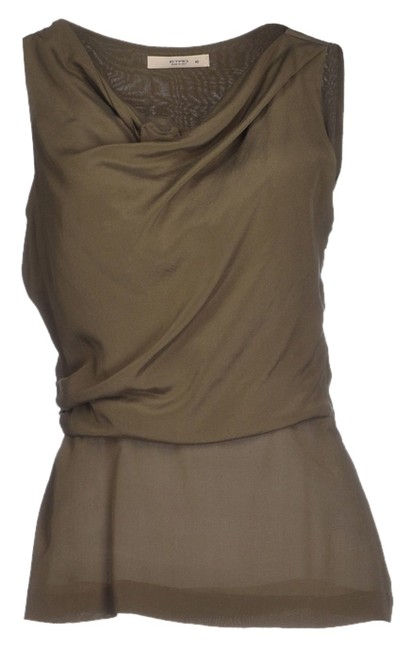 Item - Military Green Halter Top Size 4 (S)