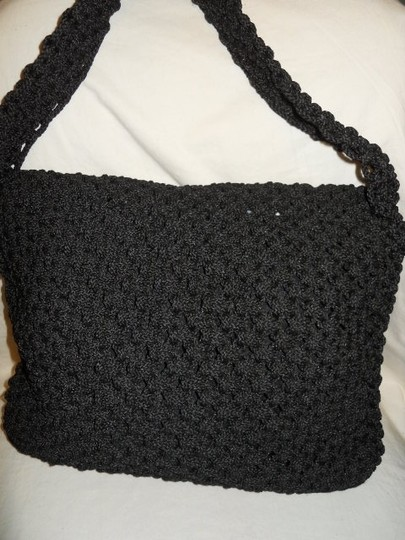 unknown Crocheted Hobo Bag