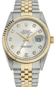 Rolex Rolex Datejust 18K/SS Gold Original Diamond Men's Watch