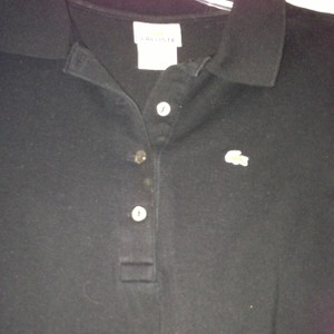 Lacoste Button Down Shirt Black