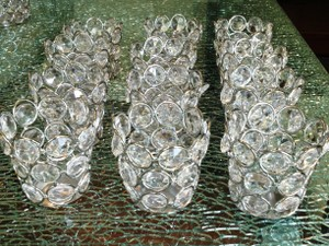 Set Of 16 Wedding Centerpieces Crystal Tealight Votive Candle Holders
