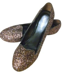 Sole Society Glitter Cute Casual Chestnut Glitter Flats