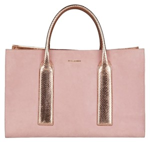 Dsquared2 Suede Metallic Python Tote in Pink
