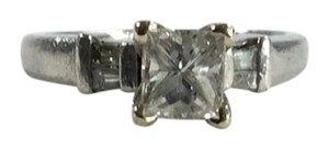 Other Platinum Square Cut Diamond Ring