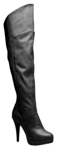 ShoeDazzle Knee High Over Knee Black Boots